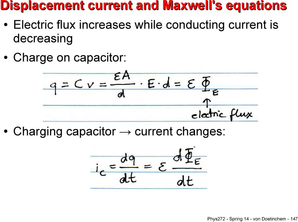 decreasing Charge on capacitor: Charging capacitor