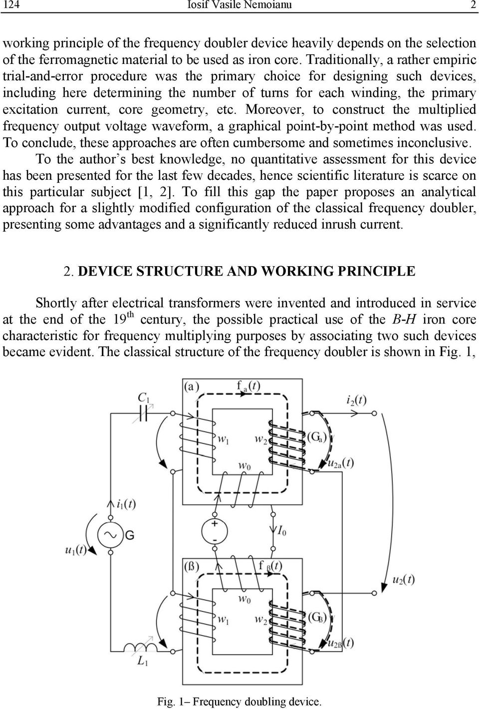 Study Of The Voltage Frequency Doubler With Nonlinear Iron Core Circuit Diagram Moreover To Construct Multiplied Output