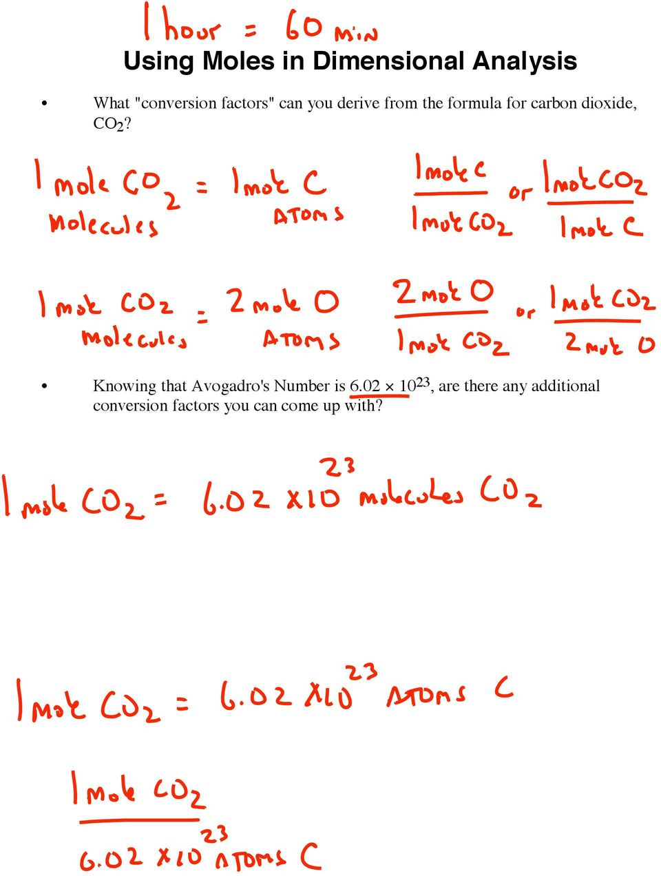 dioxide, CO 2? Knowing that Avogadro's Number is 6.