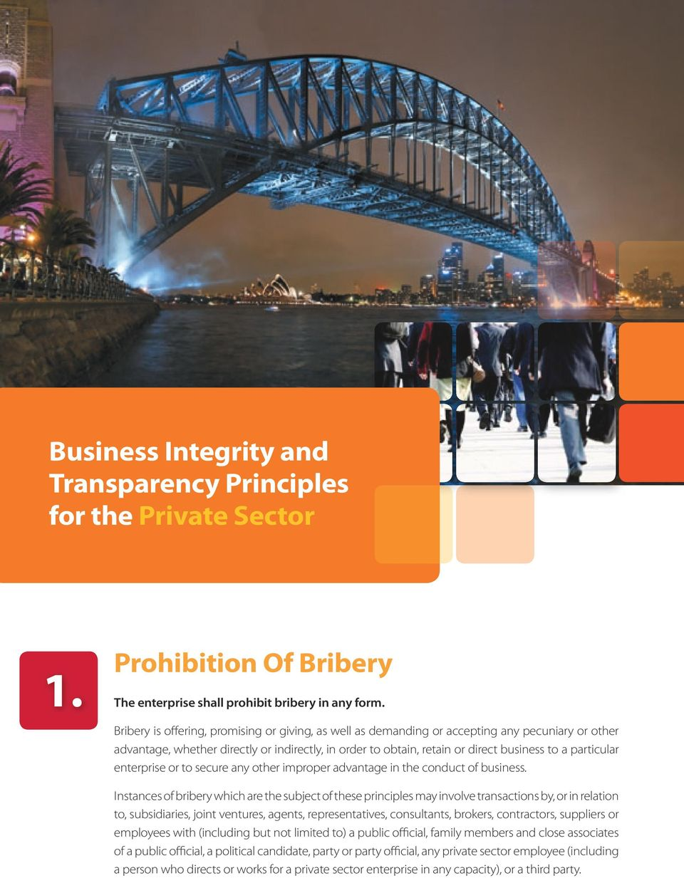particular enterprise or to secure any other improper advantage in the conduct of business.