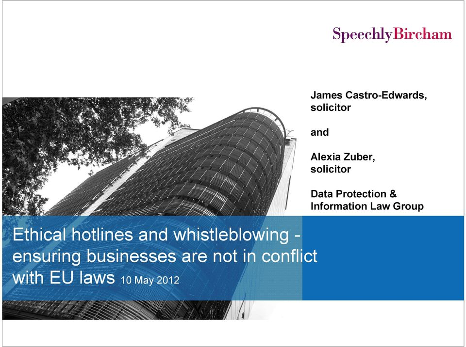 Ethical hotlines and whistleblowing ensuring
