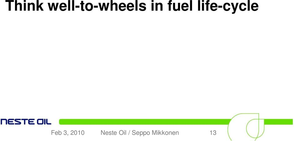 fuel life-cycle