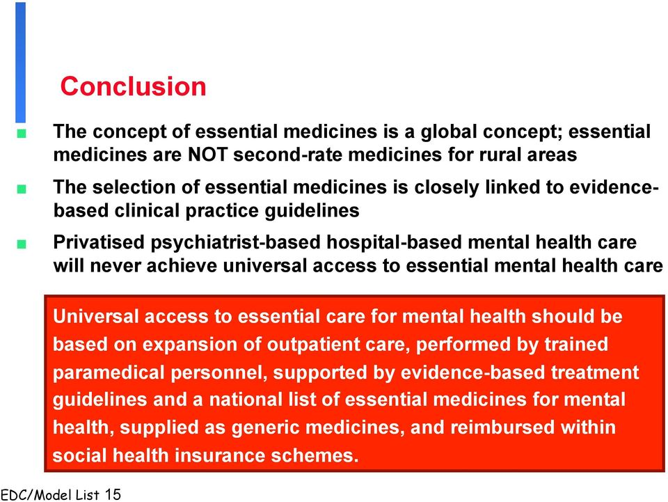 access to essential medicines in selected