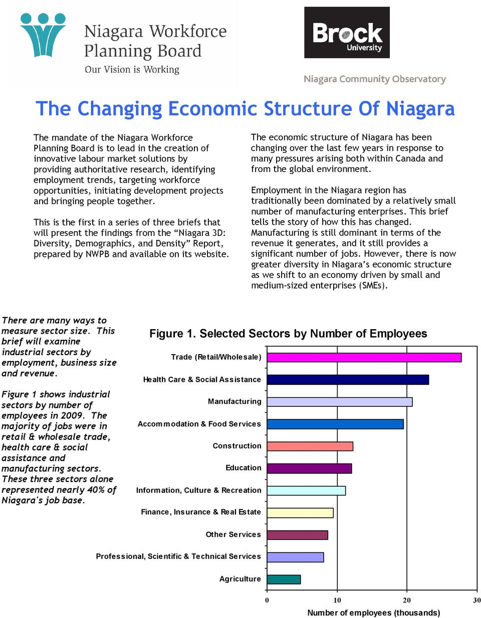 This is the first in a series of three briefs that will present the findings from the Niagara 3D: Diversity, Demographics, and Density Report, prepared by NWPB and available on its website.