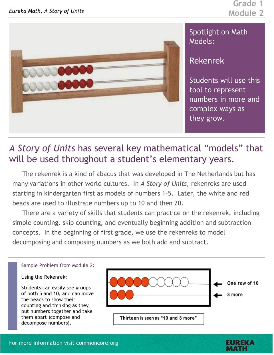 The rekenrek is a kind of abacus that was developed in The Netherlands but has many variations in other world cultures.
