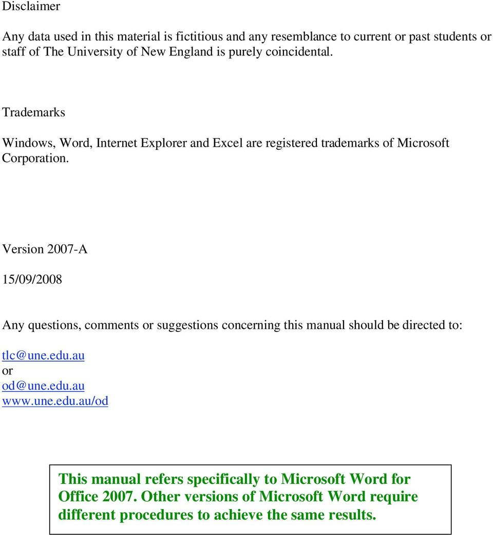 using microsoft word 2007 to create a thesis