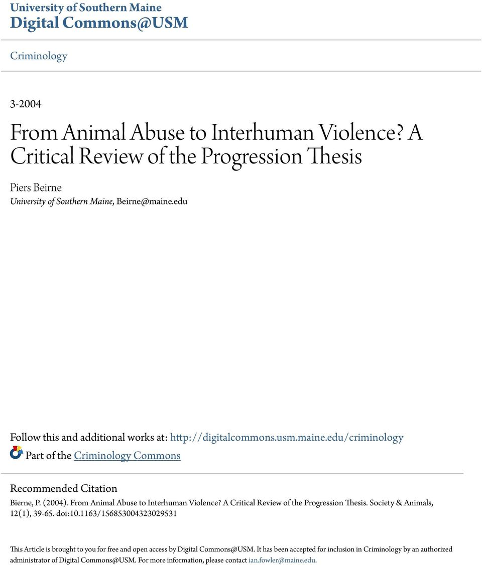 animal abuse research paper thesis This argument has facts about the cruel abuse of animals the research was informative and disappointing all at once it includes opinions of others.