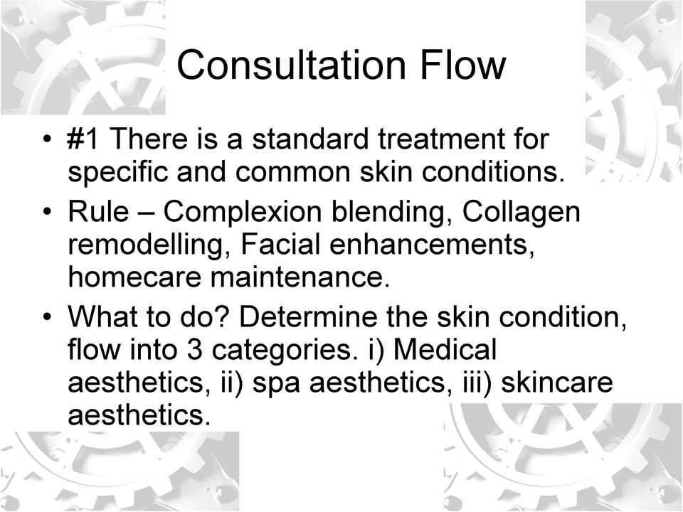 Rule Complexion blending, Collagen remodelling, Facial enhancements, homecare