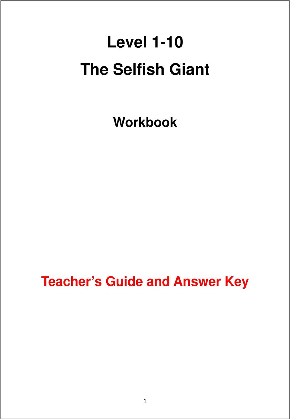 Workbook Teacher