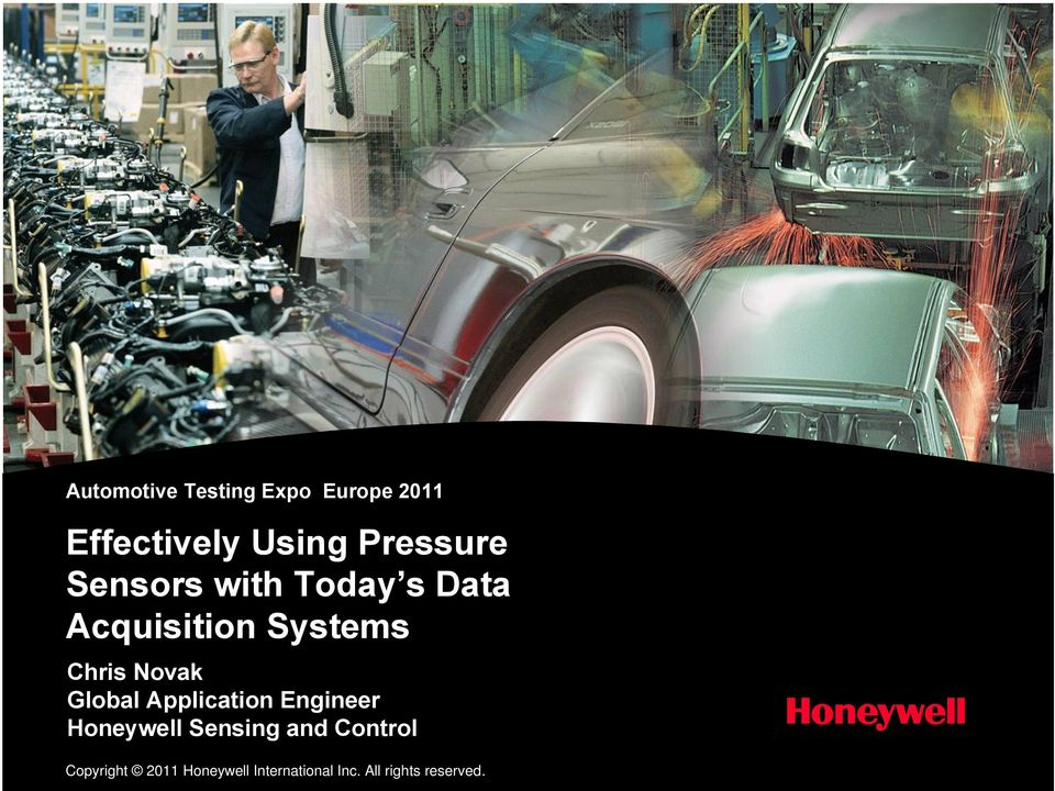 Global Application Engineer Honeywell Sensing and Control