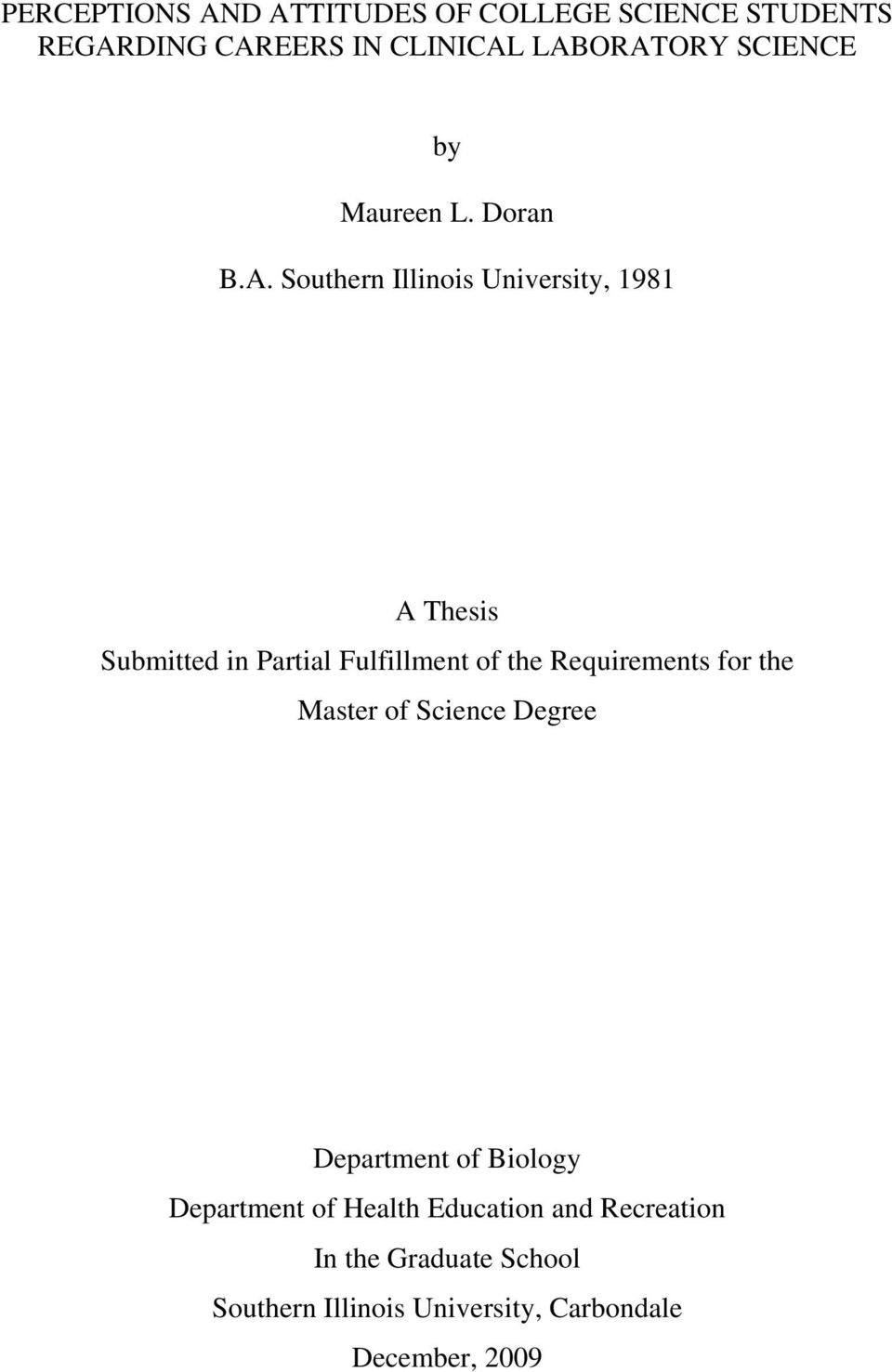 Thesis regarding education