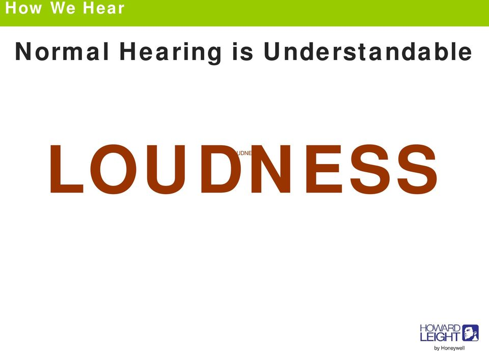 Hearing is