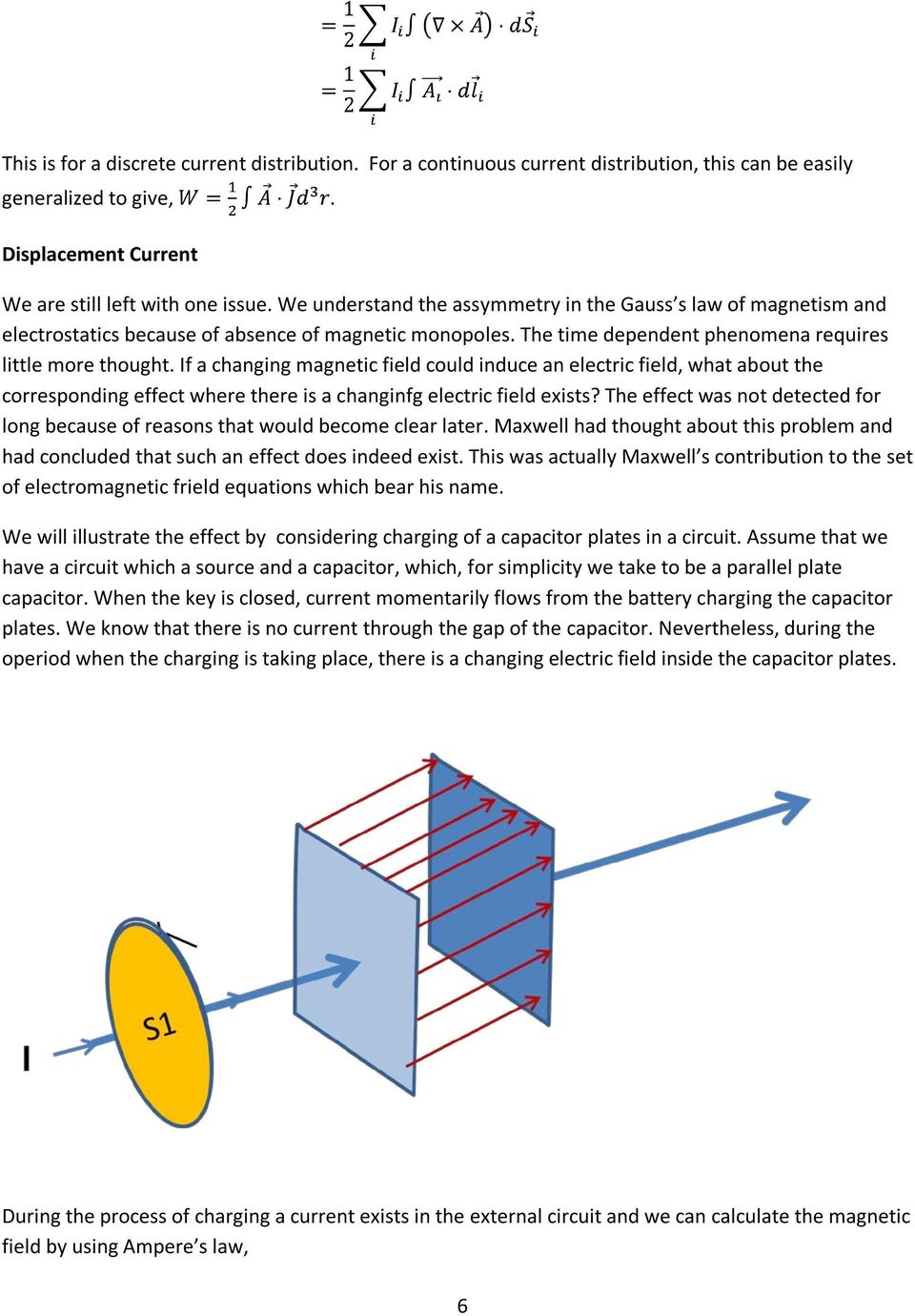 If a changing magnetic field could induce an electric field, what about the corresponding effect where there is a changinfg electric field exists?