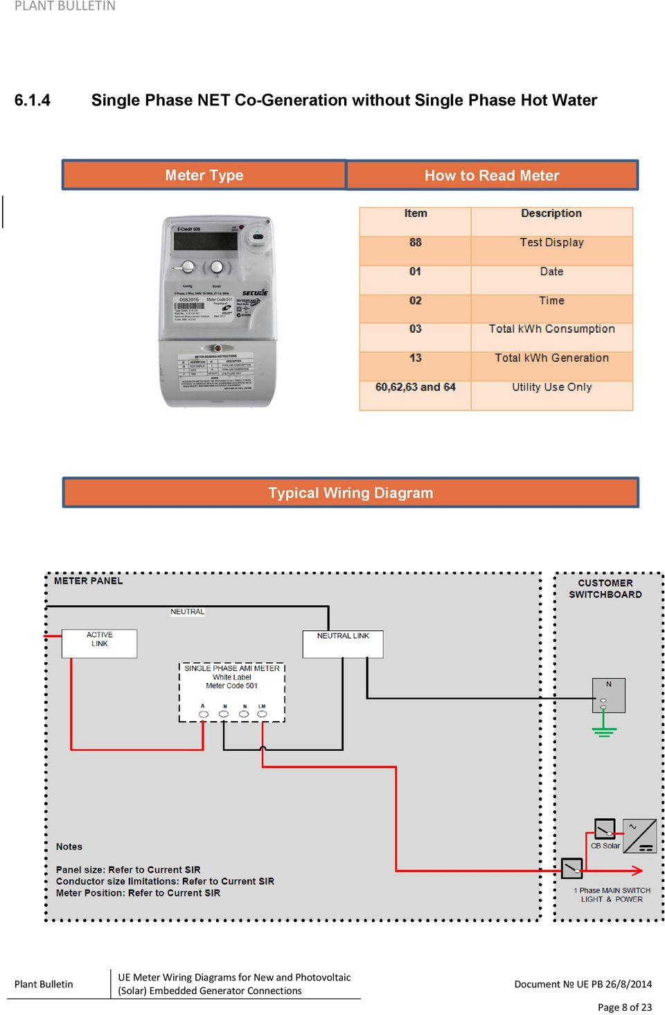 ue plant bulletin ue meter wiring diagrams for new and photovoltaic solar embedded generator