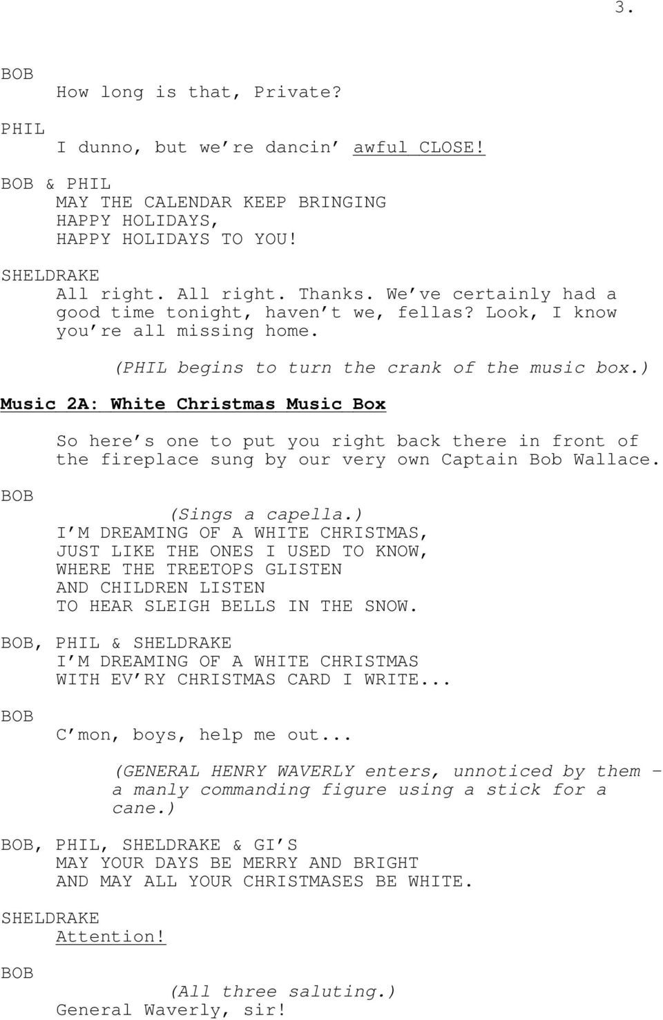 Irving Berlin s White Christmas. Music and Lyrics by Irving Berlin ...
