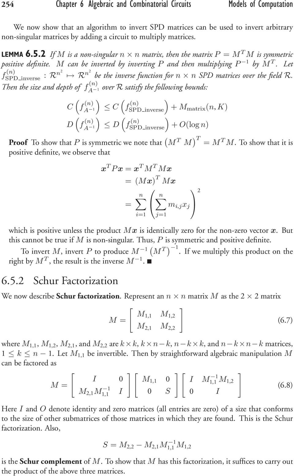 Let f n SPD inverse : Rn2 R n2 be the inverse function for n n SPD matrices over the field R.