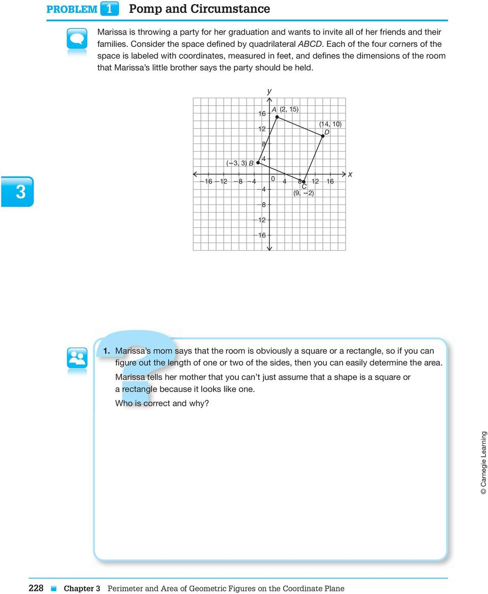 Perimeter And Area Of Geometric Figures On The Coordinate
