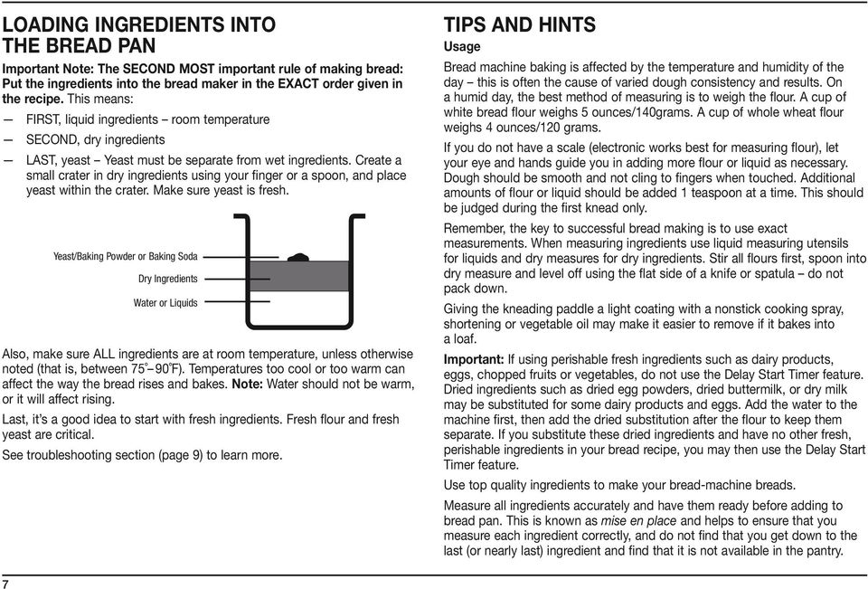 cuisinart bread maker instructions