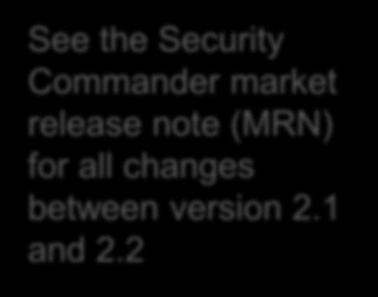 New in Security Commander 2.2 These exciting new additions are now included in Security Commander 2.