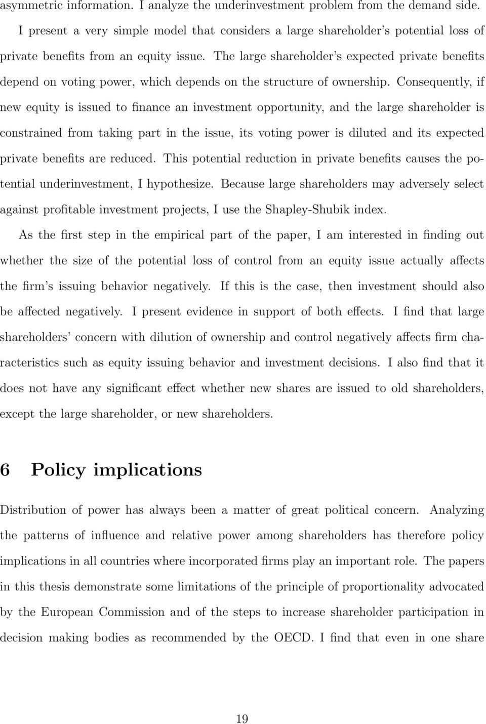 essay on political implication of power