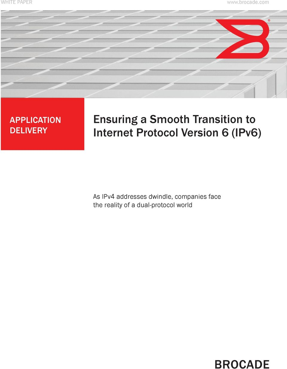 Transition to Internet Protocol Version 6 (IPv6)