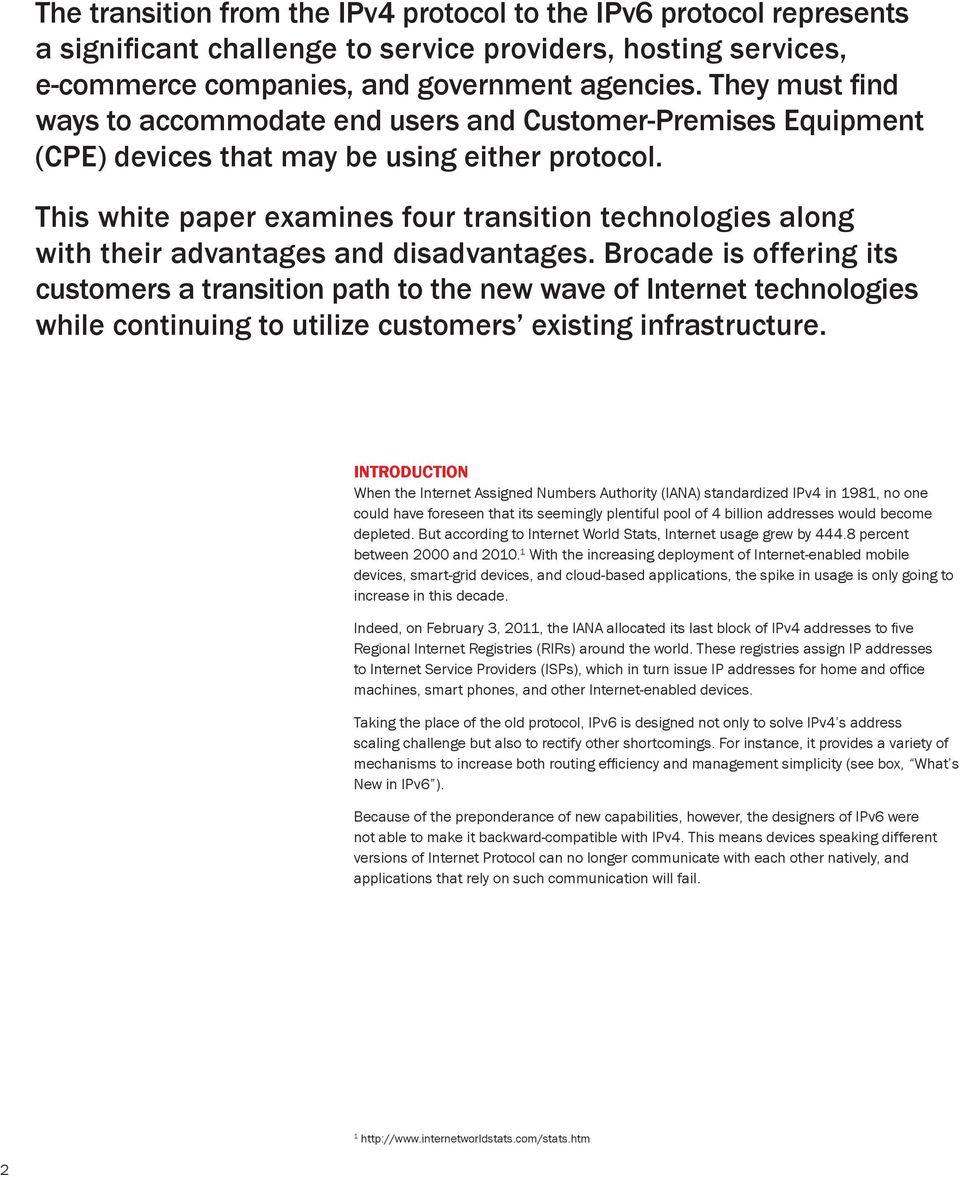 This white paper examines four transition technologies along with their advantages and disadvantages.
