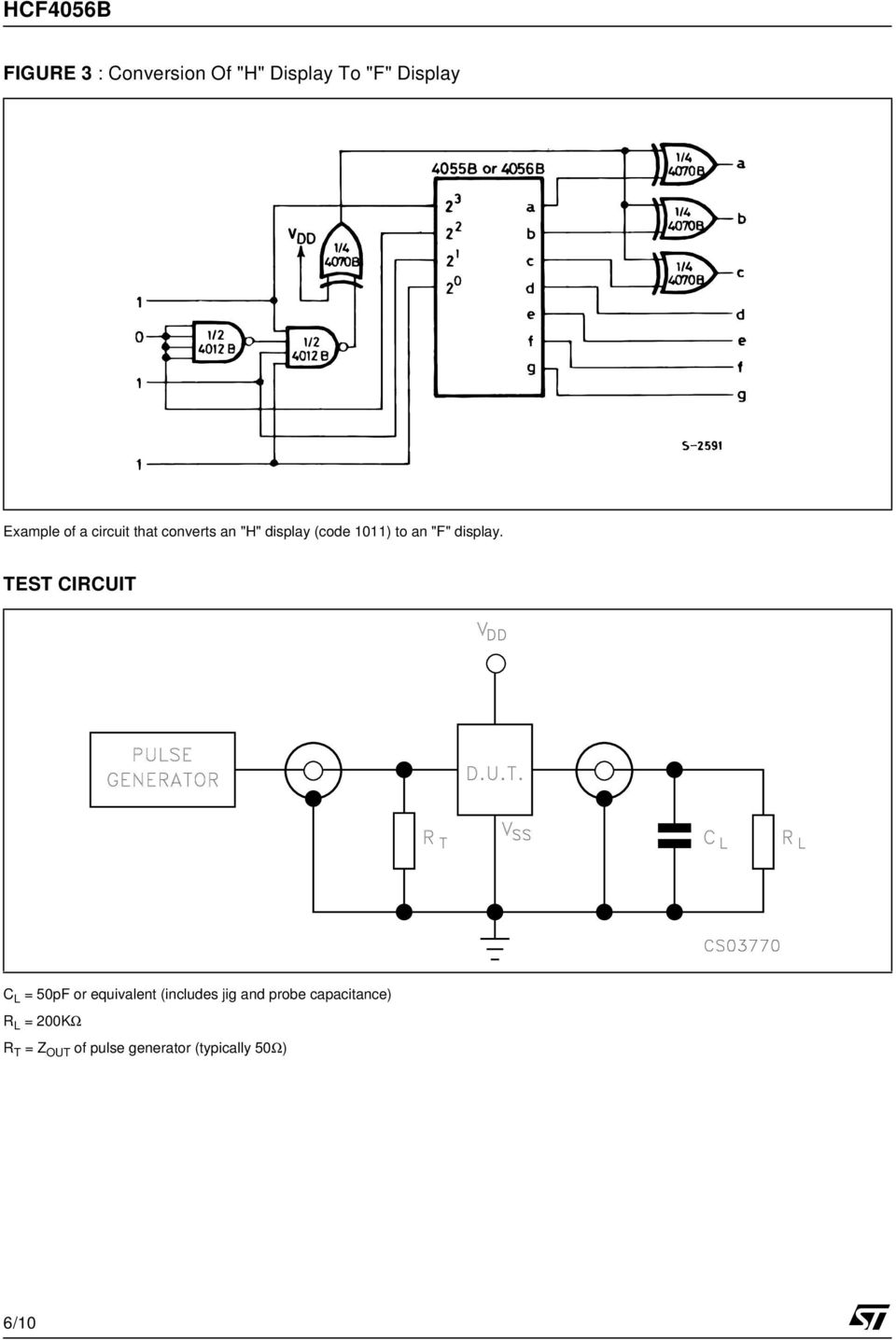 TEST CIRCUIT C L = 50pF or equivalent (includes jig and probe