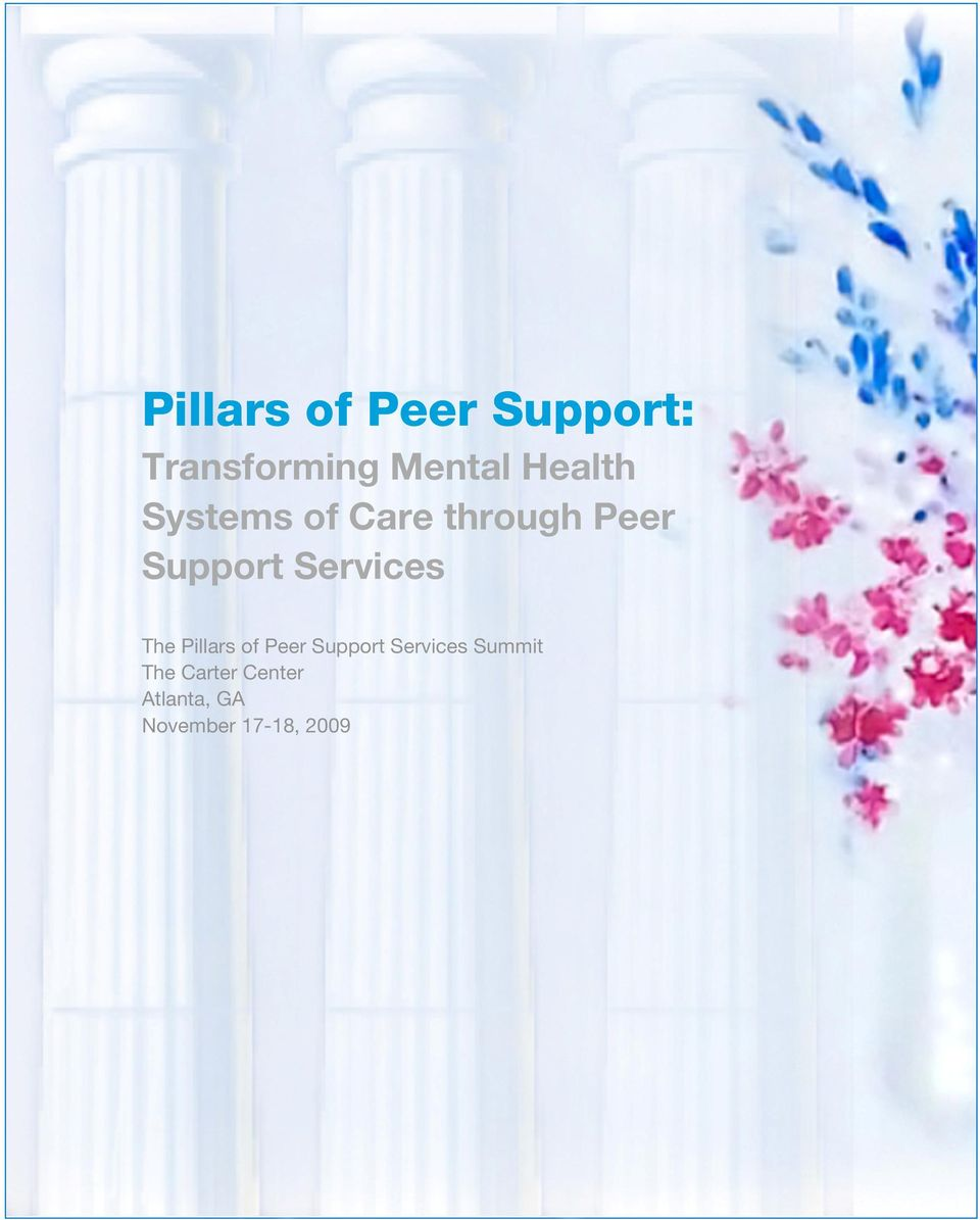 Services The Pillars of Peer Support Services