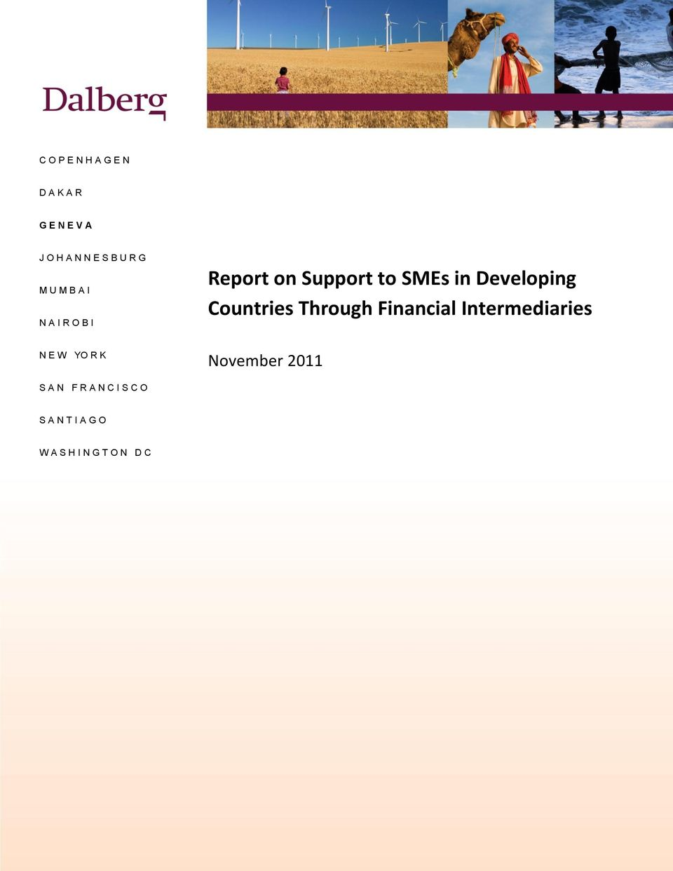 in Developing Countries Through Financial Intermediaries November