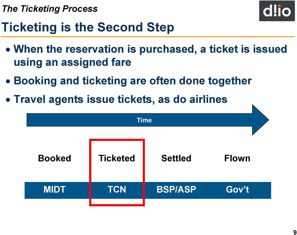 Booking and ticketing are often done together Travel agents issue