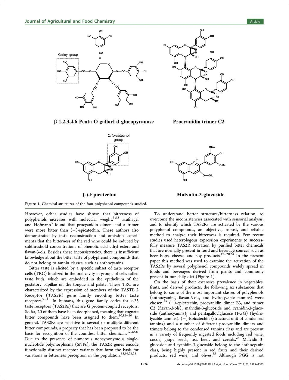These authors also demonstrated by taste reconstruction and omission experiments that the bitterness of the red wine could be induced by subthreshold concentrations of phenolic acid ethyl esters and