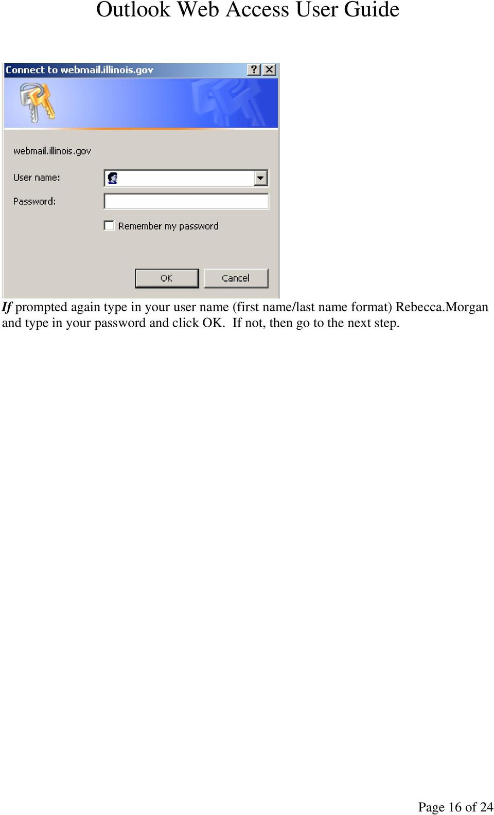 Morgan and type in your password and click