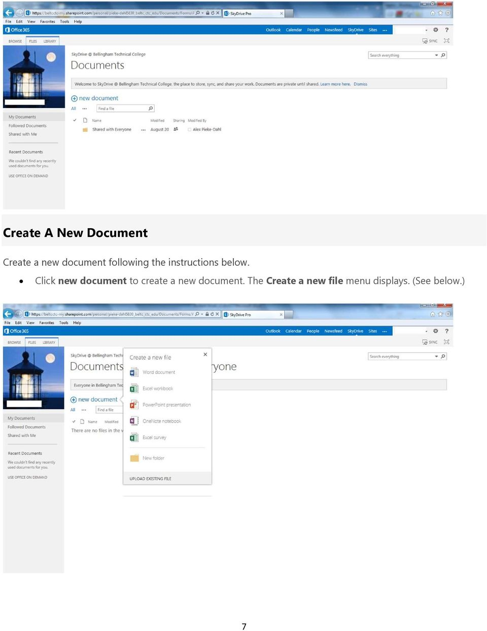 Click new document to create a new document.