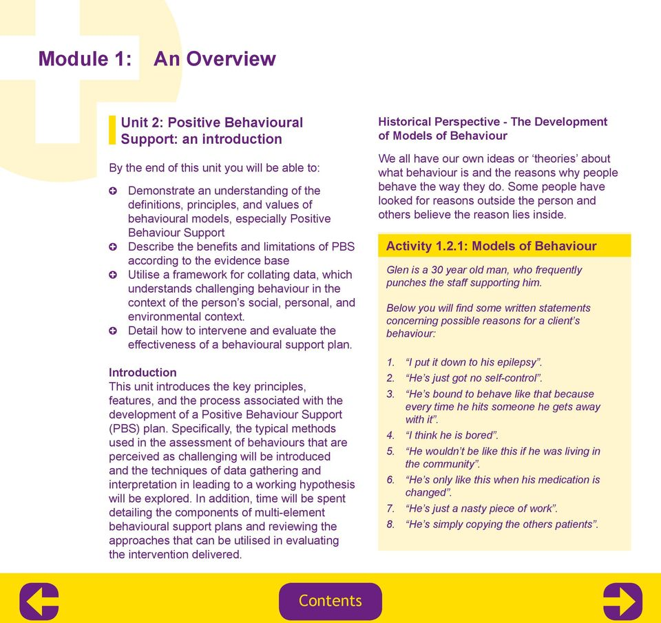 challenging behaviour in the context of the person s social, personal, and environmental context. Detail how to intervene and evaluate the effectiveness of a behavioural support plan.