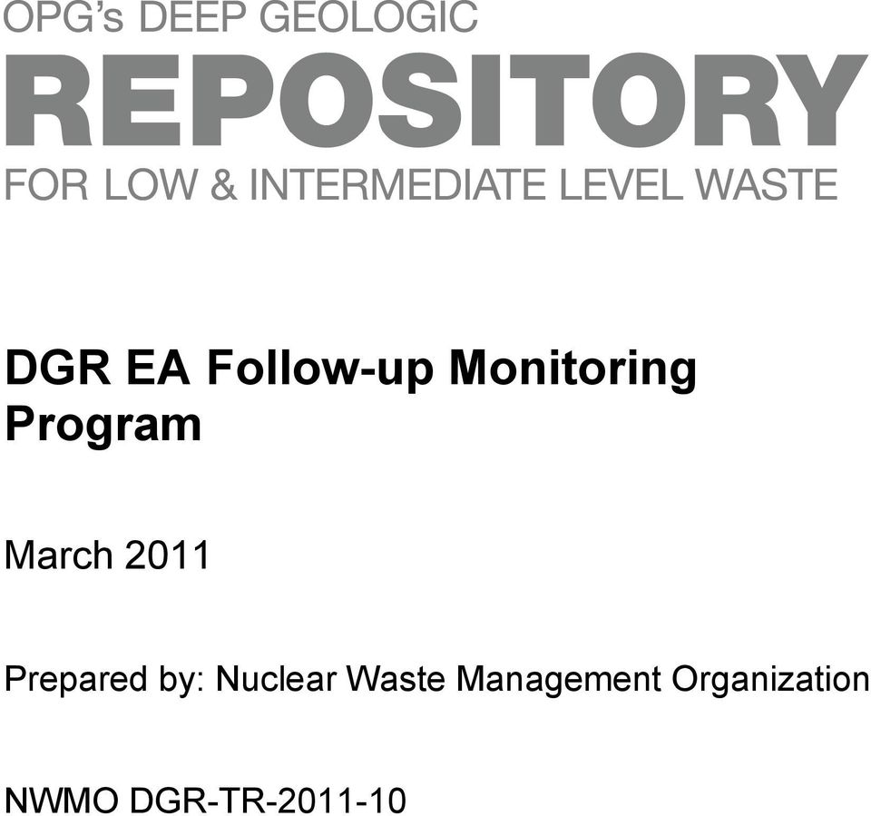 by: Nuclear Waste Management