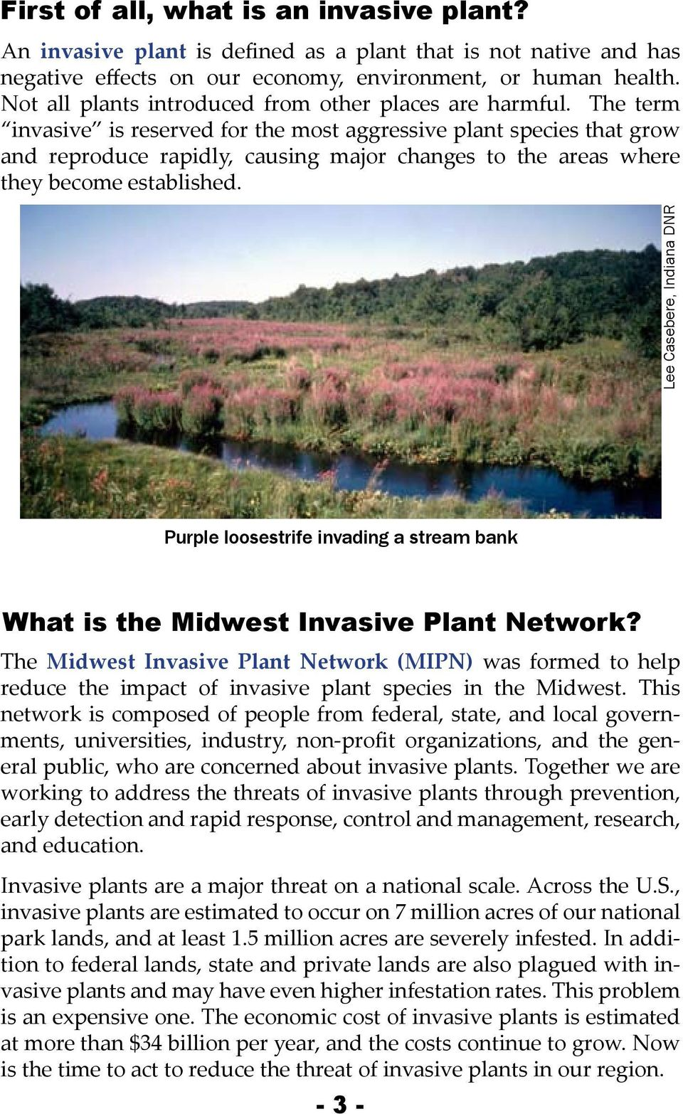 The term invasive is reserved for the most aggressive plant species that grow and reproduce rapidly, causing major changes to the areas where they become established.