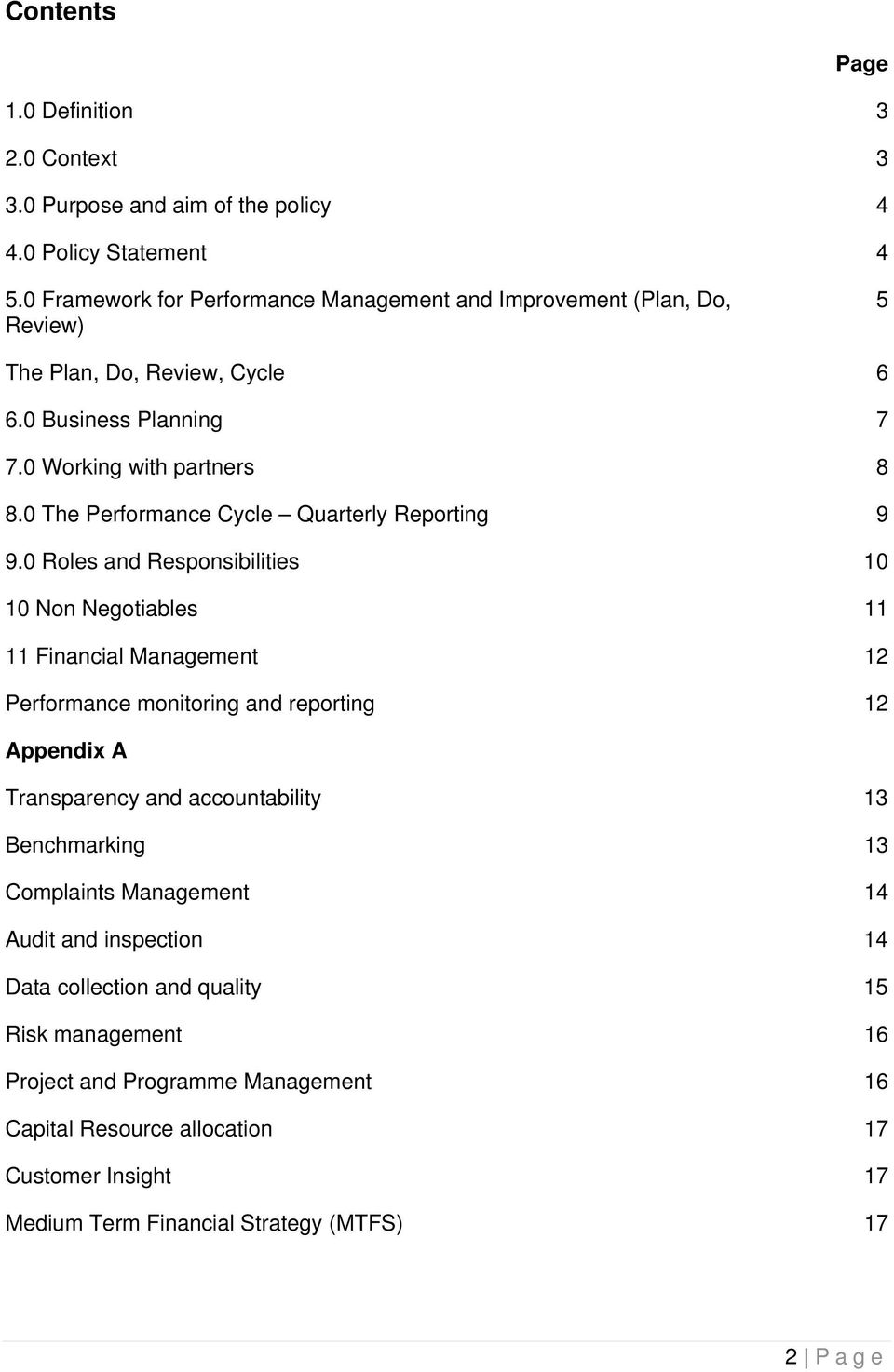 0 The Performance Cycle Quarterly Reporting 9 9.