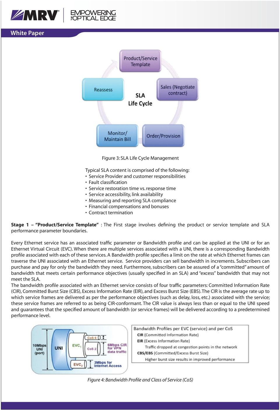 stage involves defining the product or service template and SLA performance parameter boundaries.