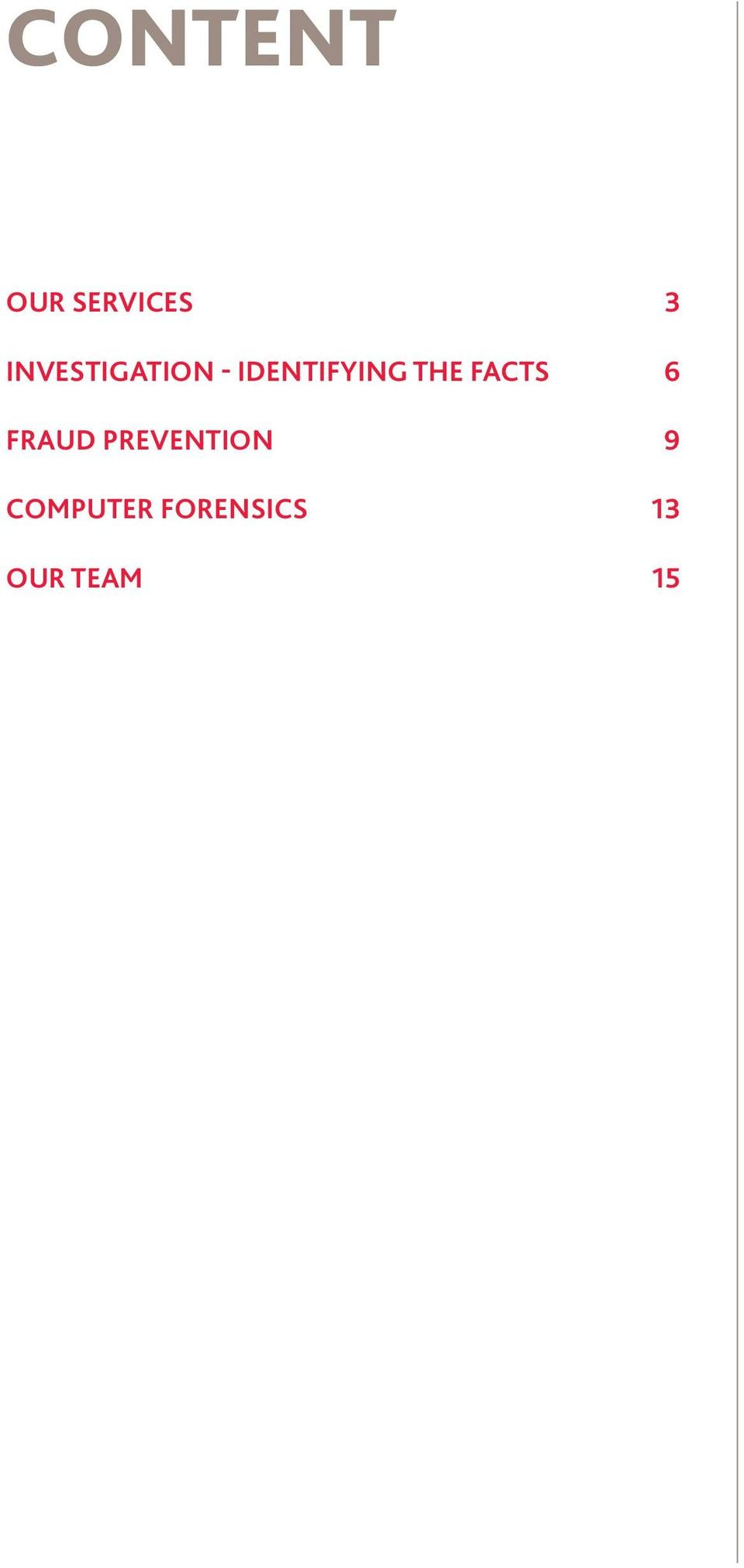 the facts 6 Fraud prevention
