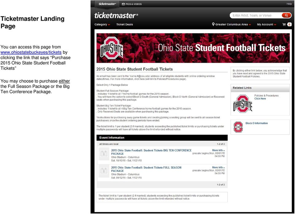 Purchase 2015 Ohio State Student Football Tickets You may choose