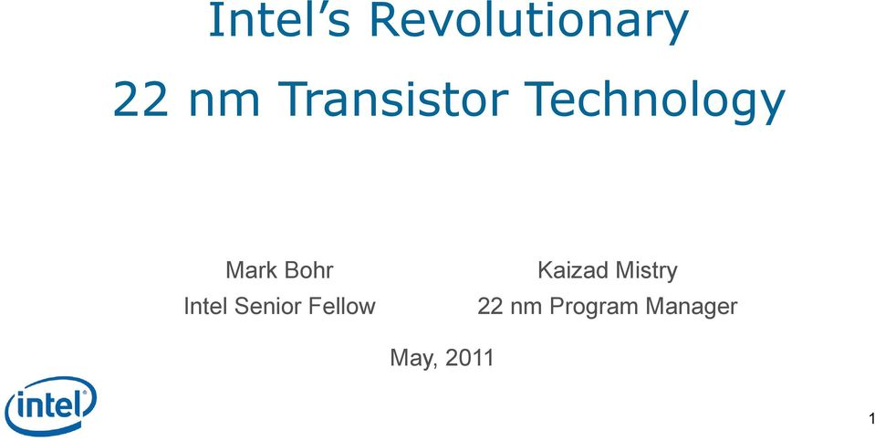 Intel Senior Fellow Kaizad