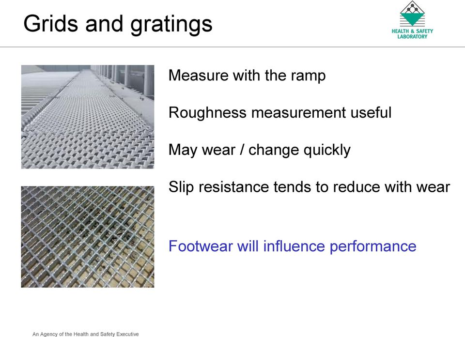 change quickly Slip resistance tends to