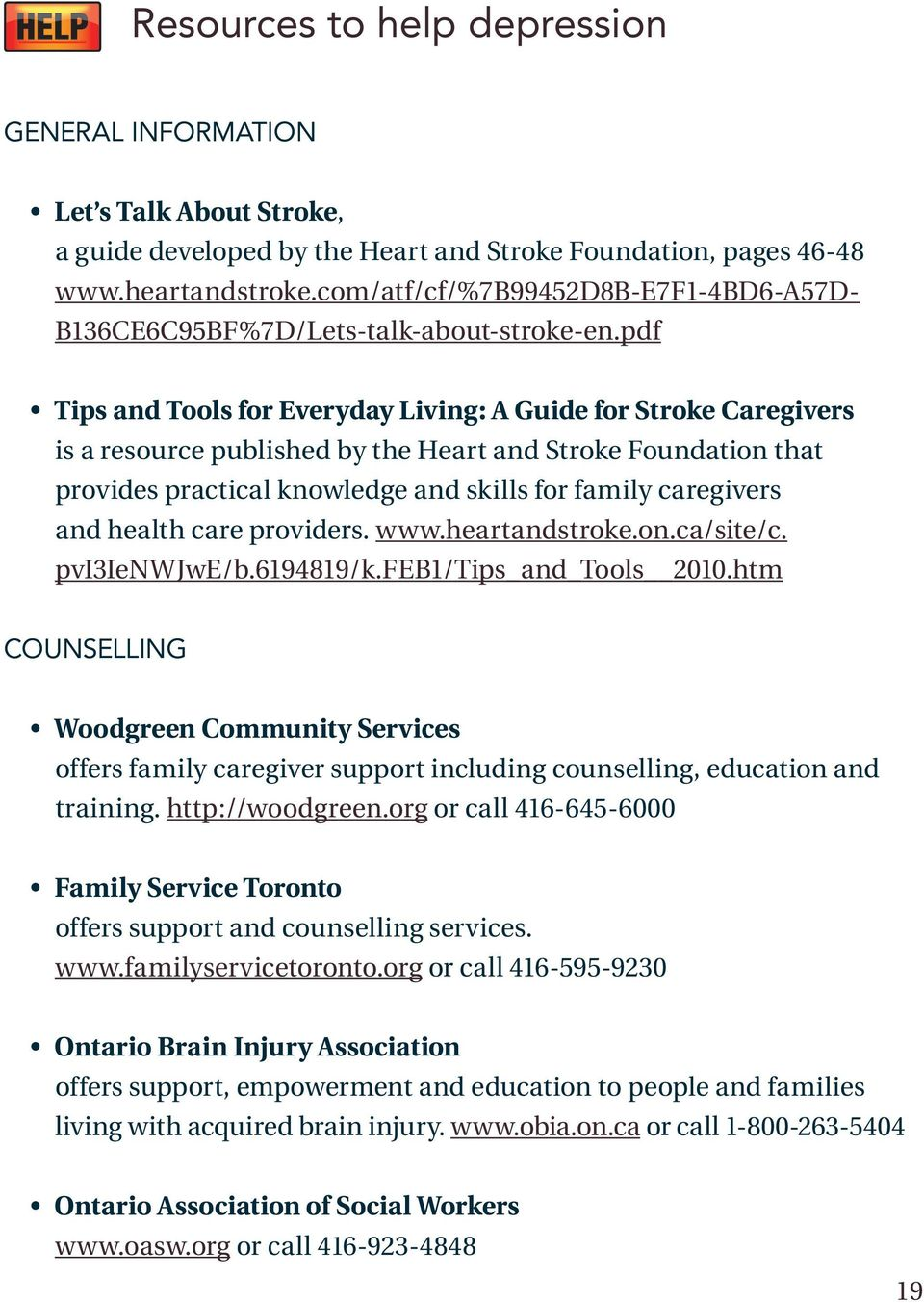 pdf Tips and Tools for Everyday Living: A Guide for Stroke Caregivers is a resource published by the Heart and Stroke Foundation that provides practical knowledge and skills for family caregivers and