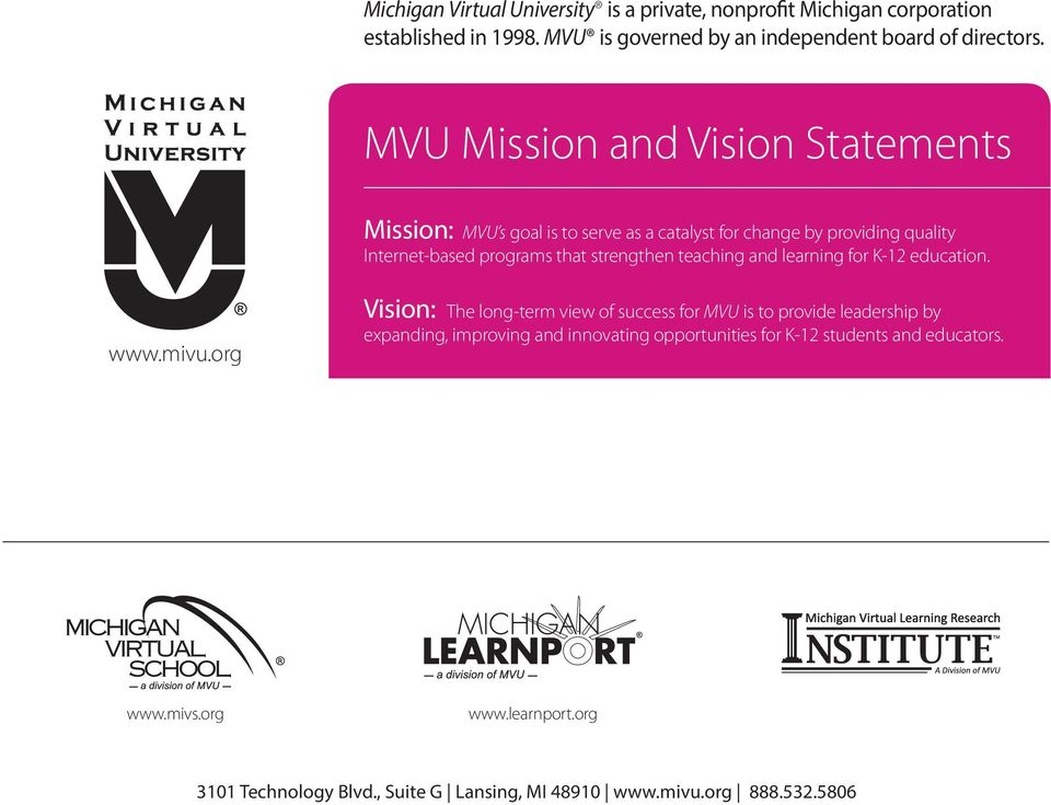 teaching and learning for K-12 education. www.mivu.