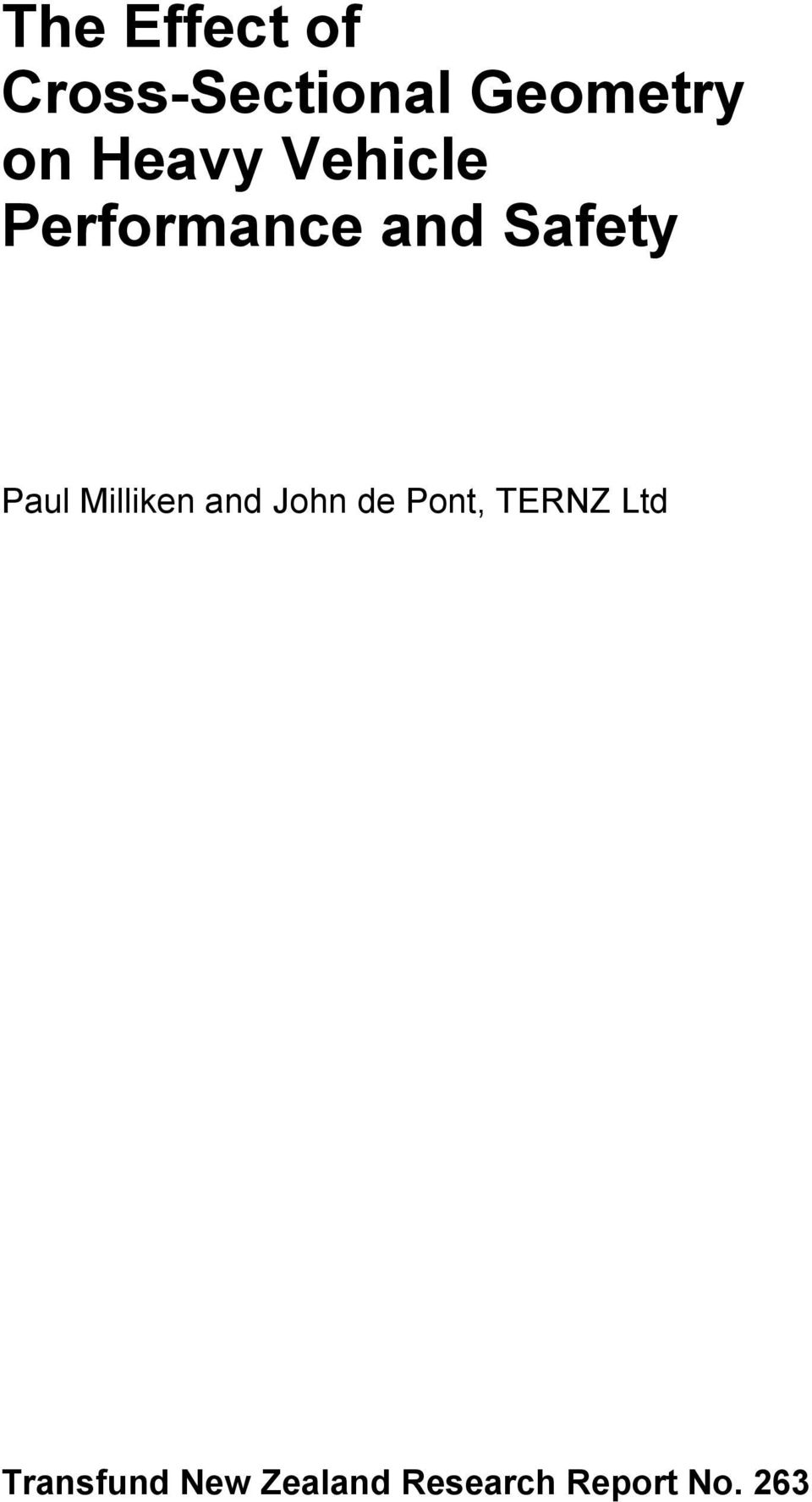 Milliken and John de Pont, TERNZ Ltd