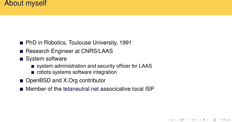 security officer for LAAS robots systems software integration