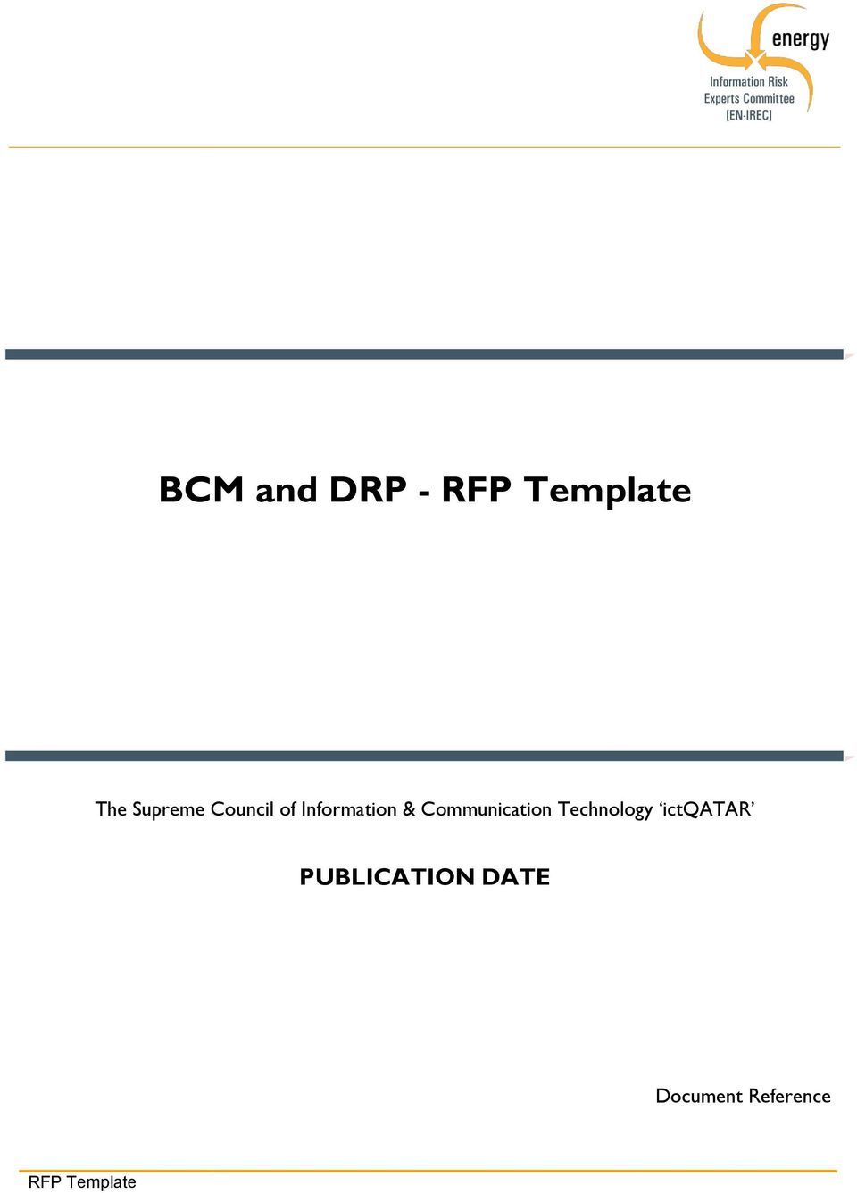 BCM and DRP - RFP Template - PDF