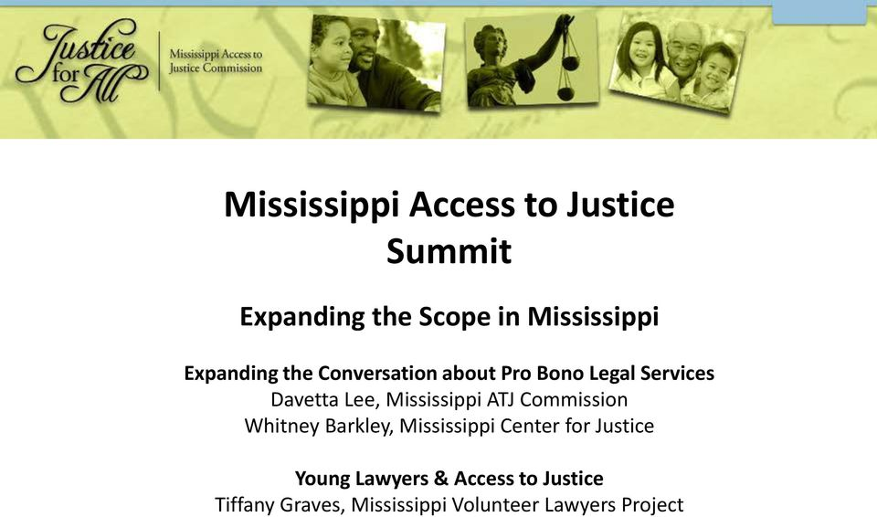 Commission Whitney Barkley, Mississippi Center for Justice Young