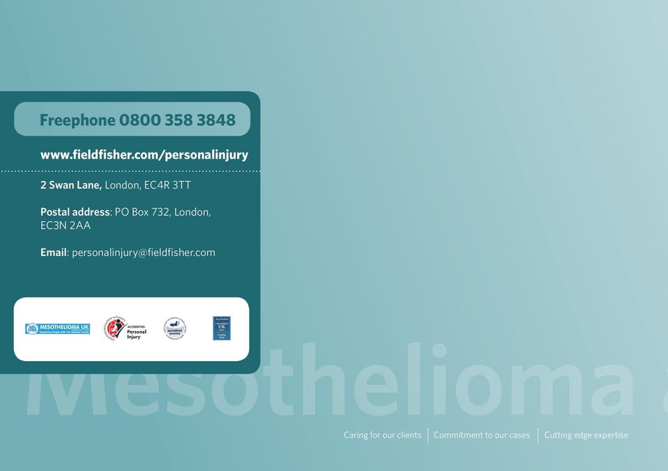 com/personalinjury 2 Swan Lane, London, EC4R