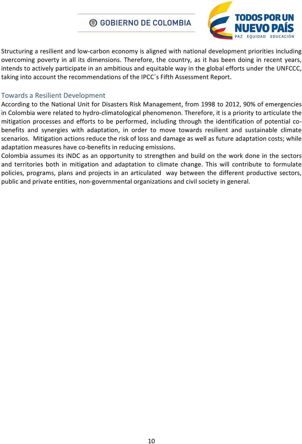 recommendations of the IPCC s Fifth Assessment Report.